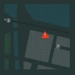 Karta till Bolts kontor med Centralstationen och parkering markerad